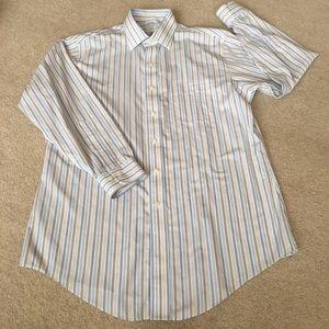 Brooks Brothers Non-Iron Button Down Stripe-16-2/3